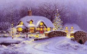 snow house christmas wallpaper 1920x1200 26599