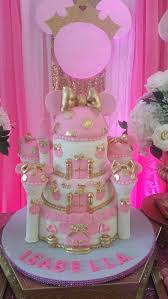 Pink And Black Minnie Mouse Decorations Royal Minnie Mouse Birthday Party Ideas Gold Cake Minnie Mouse
