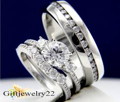 wedding ring trio sets 14k white gold diamond trio set matching engagement ring wedding