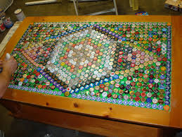 beer cap table top bottle cap coffee table writehookstudio com