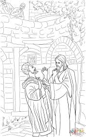 jesus heals deaf mute coloring page free printable coloring pages