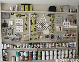 Garage Interior Design by Organizing The Garage With Diy Pegboard Storage Wall Pegboard