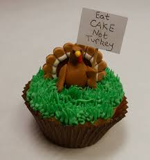 protesting thanksgiving turkey cupcake
