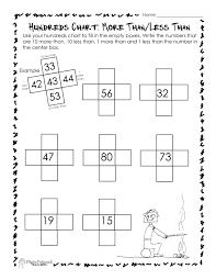 math hundreds chart hundreds chart more than less than worksheet squarehead teachers