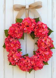 hydrangea door wreath front door wreath summer wreath spring