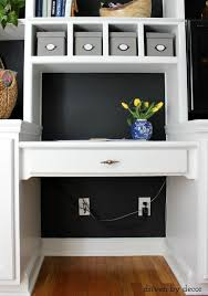 Hide Desk Cables Hiding Our Home Office Cords And Wires With Style Driven By Decor