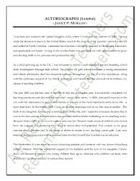 Example Of A Resume For A Highschool Student by Autobiography Sample