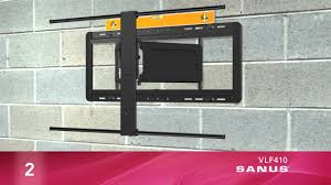 how to install your sanus vlf410 tv mount youtube