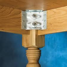 table leg mounting hardware surface mount corner brackets for table aprons 4 pack rockler