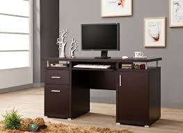 Espresso Office Desk Computer Desk With File Drawer Espresso Finish Wood Office