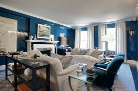 Blue And Beige Living Room Lacquered Walls Blue Living Room Decorating Ideas Styleshouse