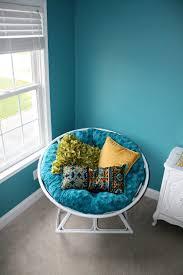 decorating wicker rattan chair using black papasan chair cushion
