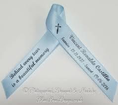 memorial ribbons photo memorial personalised printed ribbons funeral ribbons