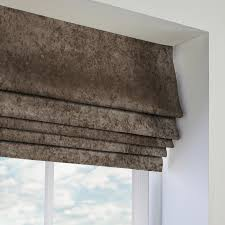 Tweed Roman Blinds Brown Roman Blinds Made To Measure From Direct Blinds
