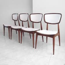 Mid Century Dining Chairs Upholstered Buy 4 Mid Century Danish Modern Walnut Bentwood Sculptural Dining