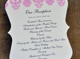 wedding reception programs exles simple wedding reception program wording picture ideas references