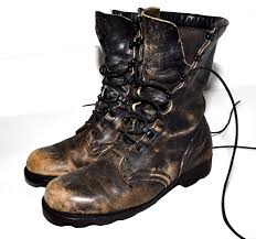 cool motorcycle boots distressed combat boots distressed leather faded black military