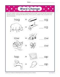 letter substitution worksheet phonics worksheets