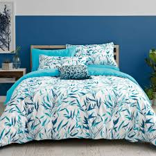 Light Blue Coverlet Bedroom Mesmerizing Light Blue And Coral Bedroom Interior Design