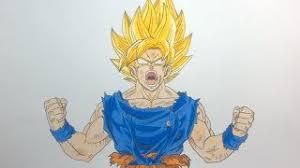 drawing goku super saiyan god super saiyan ssgss dragon ball