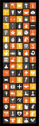 90 free flat halloween icons 2014 ai