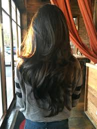 long dark chocolate brown wavy hair with layers long wavy