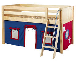 maxtrix blue red curtain for low loft and bunk bed