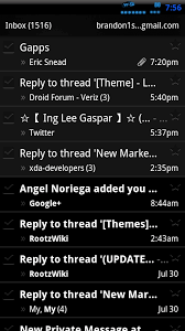 color themes for android gmail app inverted with a black color theme android community