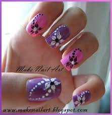 hawaiian flower nail art nail art design short french manicure