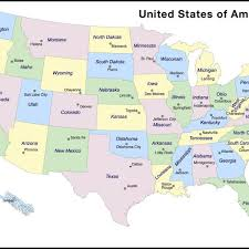 united states map with important cities map of usa states cities map of usa and canada with