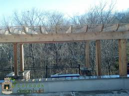 Concrete Pergola Designs by Pergola W Patio U0026 Grill Station Outdoor Design Build