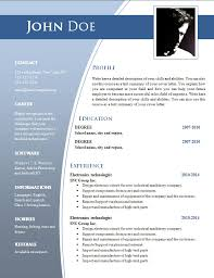 Word 2010 Resume Template Resume Template Download Free Microsoft Word Free Downloadable