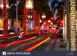 christmas decorations rodeo drive beverly hills california