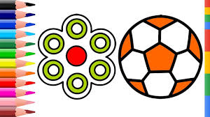 how to draw soccer ball and fidget spinners soccer ball