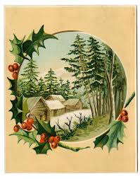 vintage christmas tree clipart clipartxtras