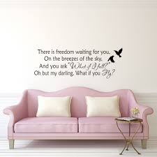 there is freedom waiting for you wall decal quote erin hanson