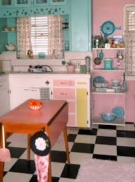 50s kitchen ideas kitschy kitchen i think i d use primary and bold colours rather