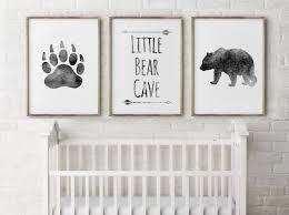 Boy Nursery Decorations Baby Boy Nursery Decorbear Cave Greylittle Bearbear