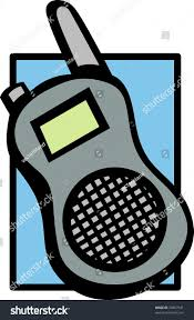 mobile walkie talkie radio police scanner stock illustration