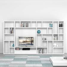 modern italian tv unit library poral by mobilstella l 333 2 h