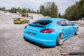 blue porsche panamera porsche panamera custom superfly autos