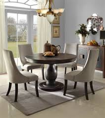 dark brown round kitchen table dining comfortable dining room with dark brown wood round kitchen