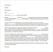 9 patient termination letter templates free sample example