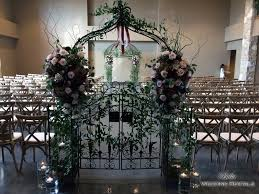 wedding arbor used non traditional wedding arches ceremony arches that are not