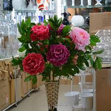 Artificial Flower Decoration For Home Aliexpress Com Buy Selling Artificial Flower 3 Rich Peony