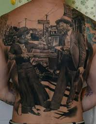 14 western tattoos on back