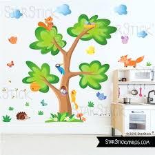 stickers animaux chambre bébé stickers animaux de la foret arbre animaux sticker muraux chambre
