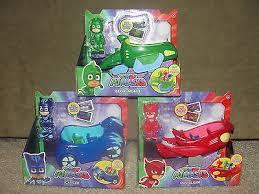 pj masks sets 3 vehicles gekko mobile cat car owl glider catboy
