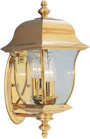 Outdoor Brass Lights Designers 1542 Pvd Pb Gladiator Polished Brass Outdoor