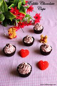 edible chocolate cups to buy edible chocolate cups with eggless strawberry mousse scoops